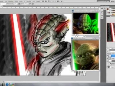 Dark Side Yoda Speed Painting