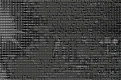 Белые розы ASCII
