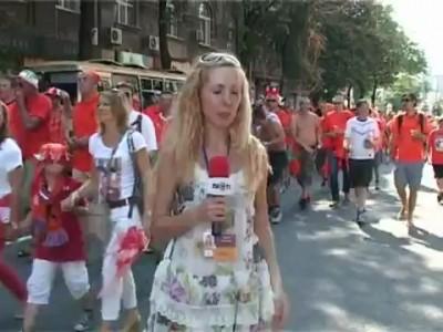 Голландские фаны троллят журналистку