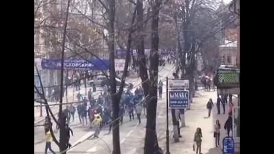 """Драка после матча """"Краснодар""""- """"Анжи"""""""