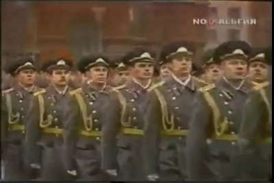 """Soviet march"" from ""Command and Conquer: Red Alert 3"" in the 1984 Army Parade"