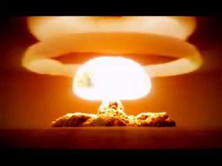 Ядерный взрыв.Царь-Бомба, 57 мегатонн, 1961 год. Реальный звук!