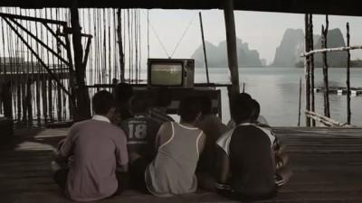 Футбольная команда с плавающей деревни