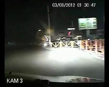 Погоня полицейских за пьяным водителем КамАЗа