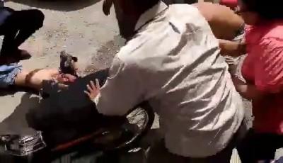 Попался в момент кражи скутера