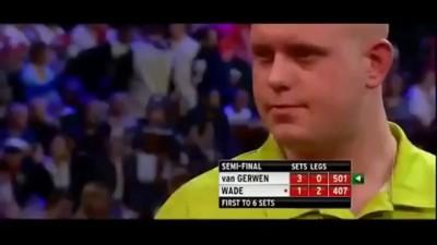17 perfect darts in a row - van Gerwen