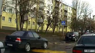 Автовандал в Минске, ул. Кульман