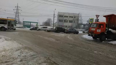 Чебоксары укладка асфальта 20 ноября 2015 года Снег