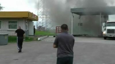 Пожар на АЗС где-то под Брянском 9 Мая 2012