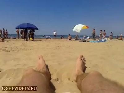 Драка на пляже в Анапе