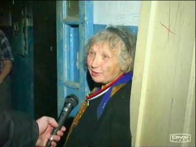 Бабка-интервью после пожара