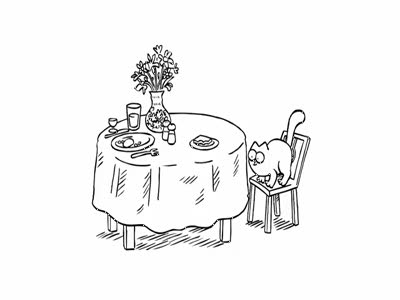 Simon's Cat in Lunch Break