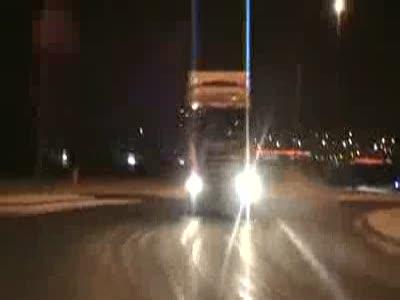 Дрифтинг на грузовом автомобиле