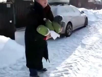 Иван на зимней прогулке