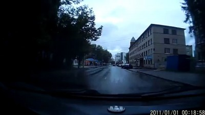 Авария у ТЦ Европа Курск 24 09 13