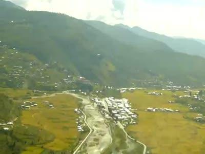 Real Paro Bhutan Landing 15 A319 Cockpit