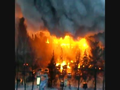 Пожар в Уфе.