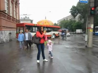 """""""Бешеный"""" трамвай в Перми."""