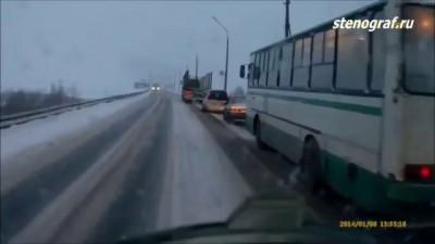ДТП Лесовоза 19 января 2014