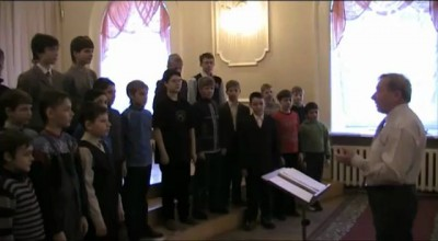 Урок музыки в донецкой школе...