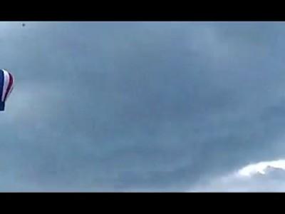 В Татарстане унесло ветром батут с детьми