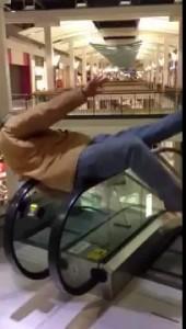Сломал эскалатор .
