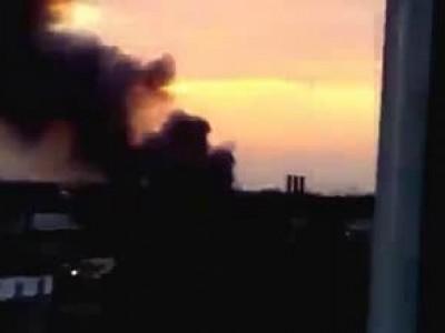 Кривой Рог, горят украинские танки.