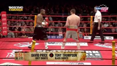 Дэвид Прайс - Тони Томпсон. Нокаут.