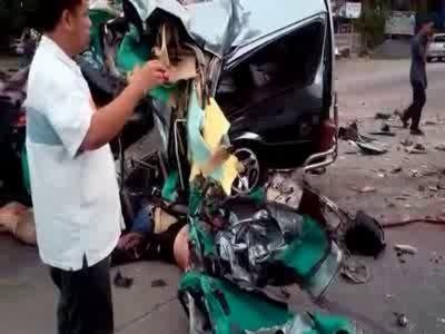 Видео места аварии, сделанное сразу после ДТП