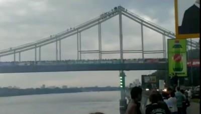 Все ультрас Украины на одном мосту