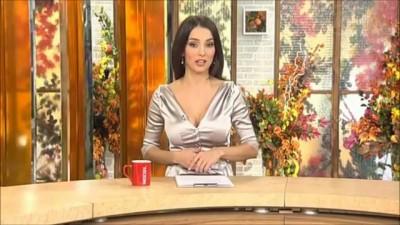 Julia Zimina Sexy Silver Satin Blouse