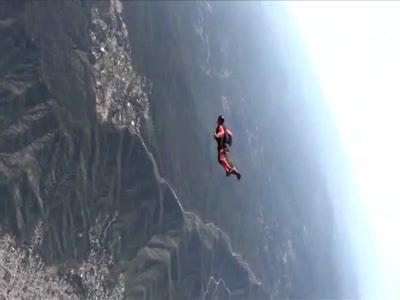 Base jump - свободный полет
