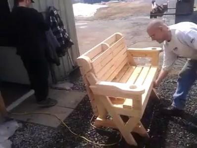Стол - скамейка