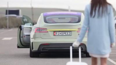 Беспилотный авто Rinspeed XchangE позволяет водителю сидеть спиной к движению.