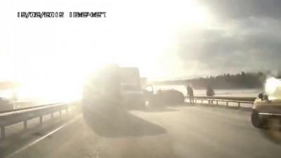 Массовая авария на Киевской трассе