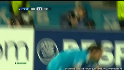 Зенит - Порту 3 -1 гол Мигел Данни Fc Zenit - Fc Porto Goal Danny 2011