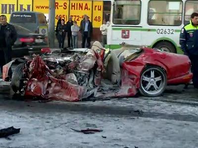 Авария на рязанском проспекте 10.10.2010 года