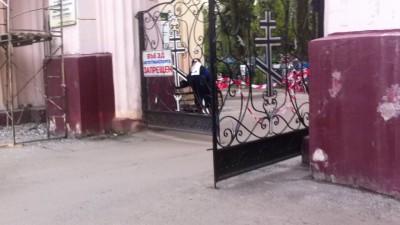 Брянск. Въезд на кладбище