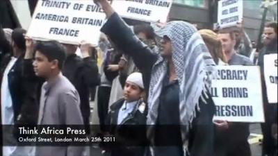 Sharia march and Interview Oxford St March 25