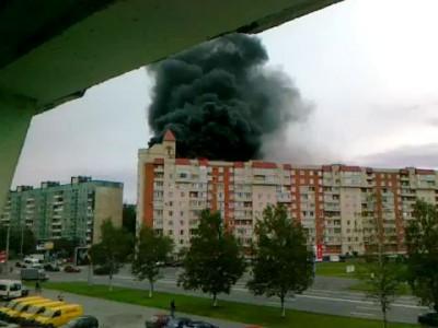 Пожар (взрыв) в Спб