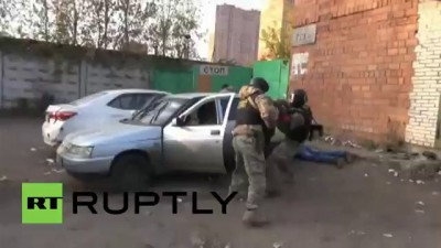 Russia: Watch Moscow cops bust gun-slinging SPICE drug ring