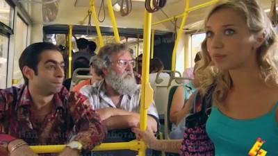 В китайском автобусе!