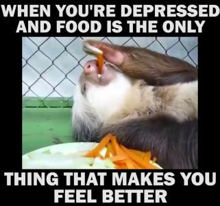 Когда ты в депрессии и только еда помогает тебе почувствовать себя лучше