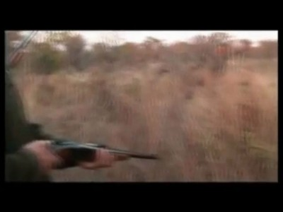 Леопард атаковал охотника