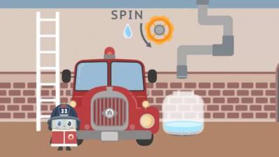Мультики про пожарников. Собираем пожарную машину. Смотреть пожарная машина мультфильм