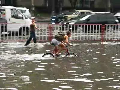 Потоп после дождя в Днепропетровске