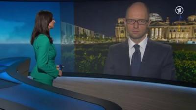 Яценюк на первом канале Германии: СССР вторгся на Украину и в Германию (перевод дословный)