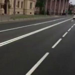 Поездка по Казани на броневике, встреча с ДПС
