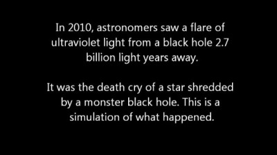 The star got into a black hole