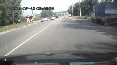 Авария: Газель потеряла колёса